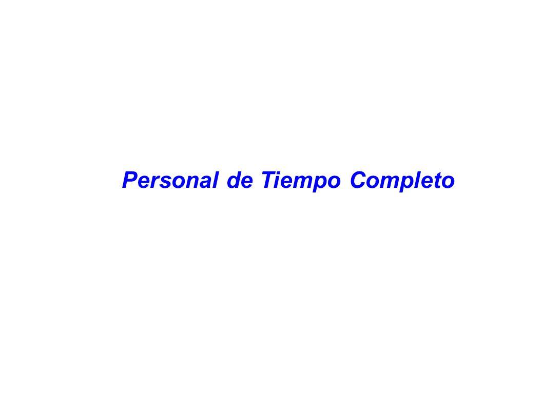 Personal de Tiempo Completo