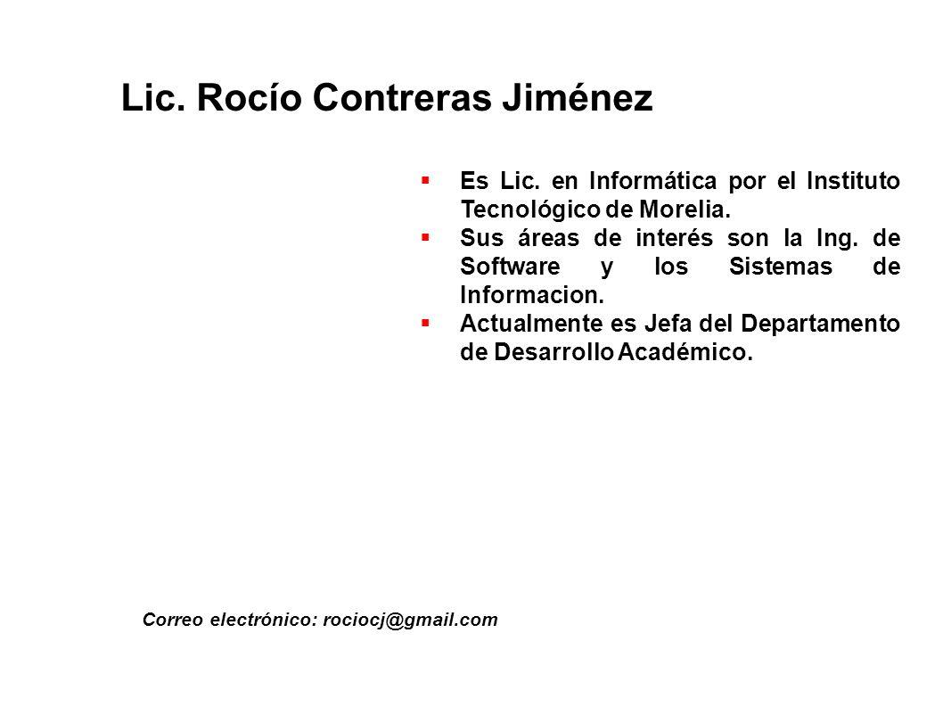 Lic. Rocío Contreras Jiménez
