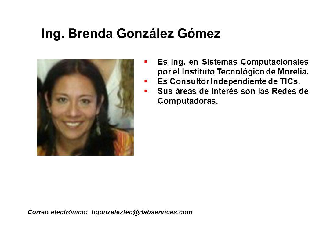 Ing. Brenda González Gómez