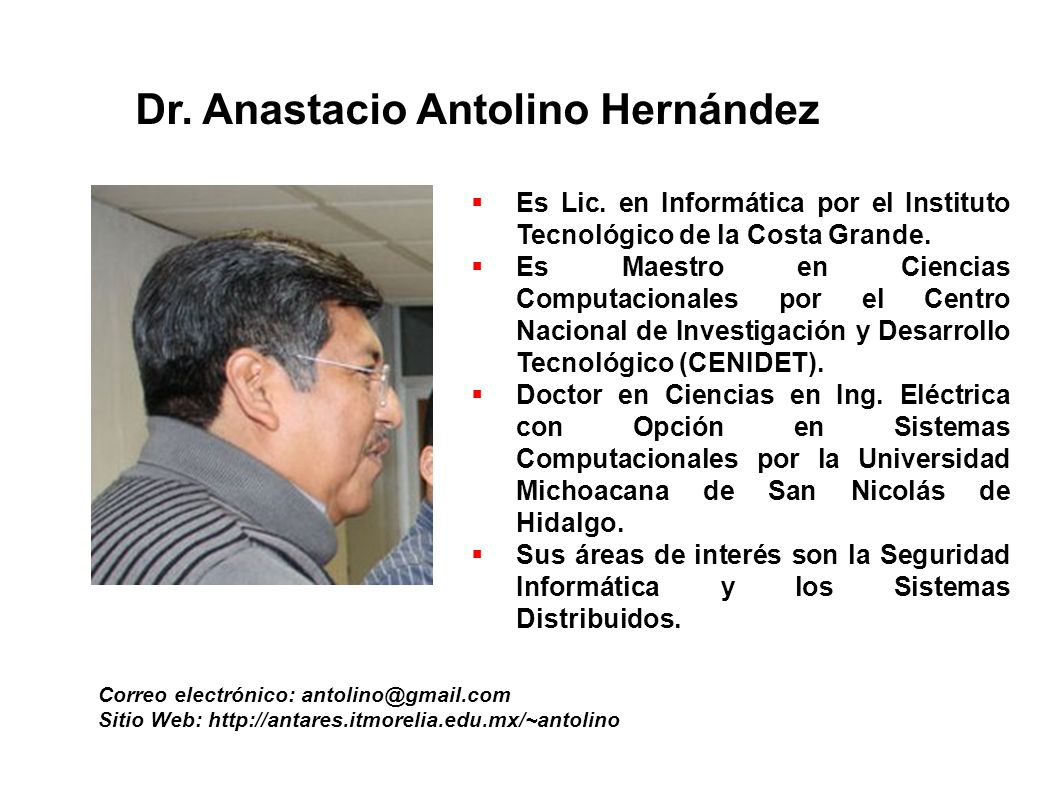 Dr. Anastacio Antolino Hernández