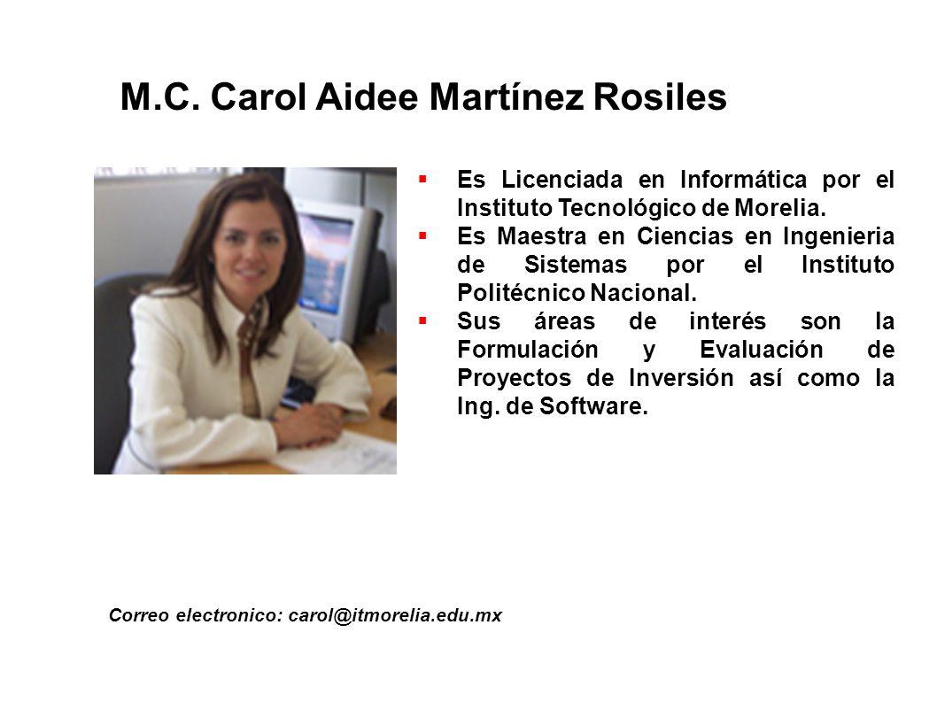 M.C. Carol Aidee Martínez Rosiles