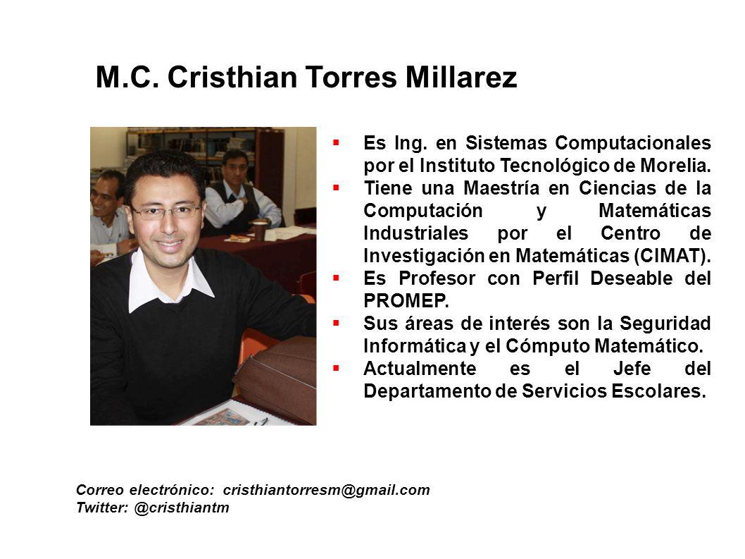 M.C. Cristhian Torres Millarez