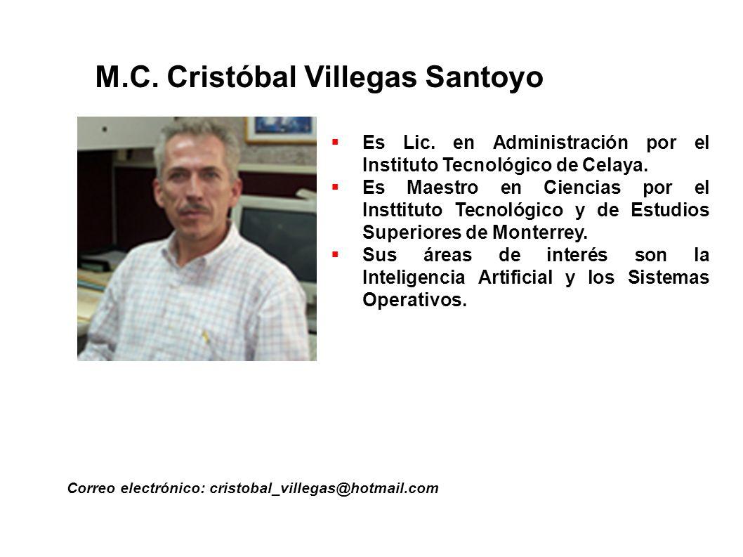 M.C. Cristóbal Villegas Santoyo
