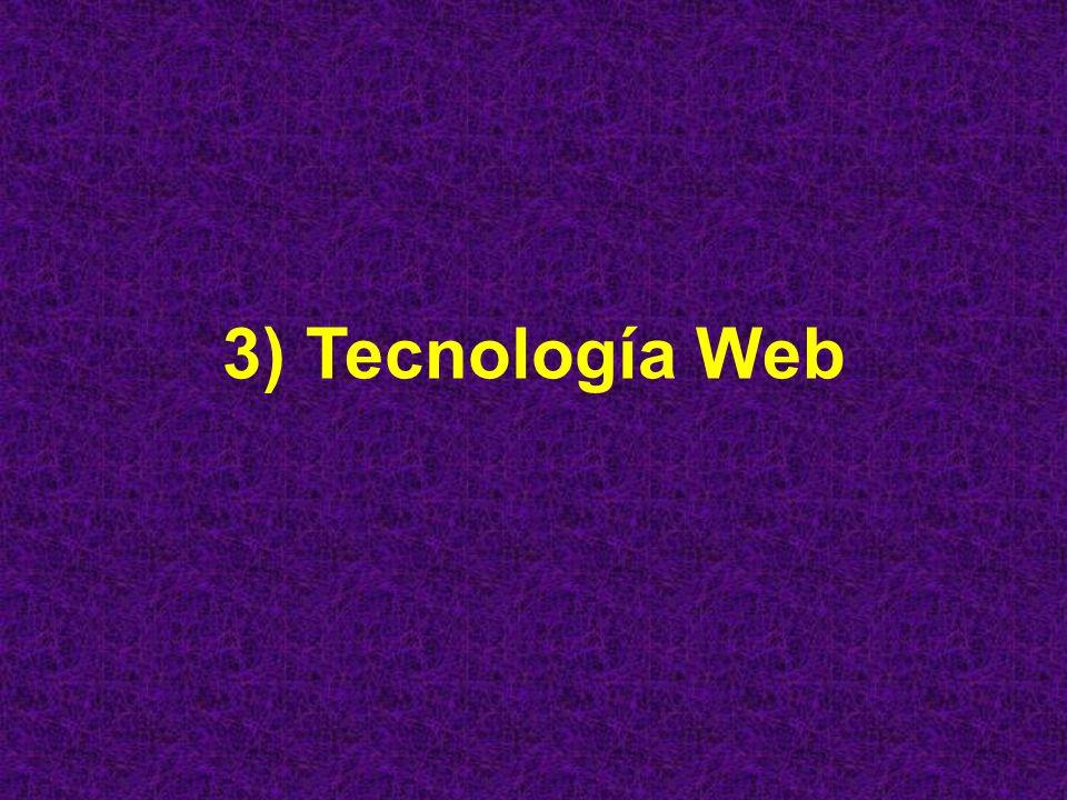 3) Tecnología Web