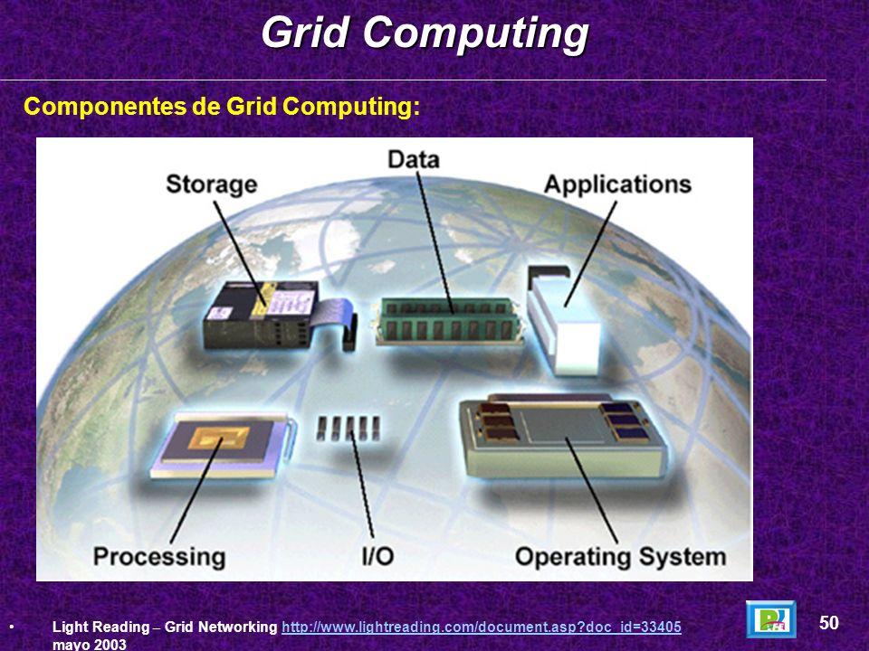 Grid Computing Componentes de Grid Computing: 50