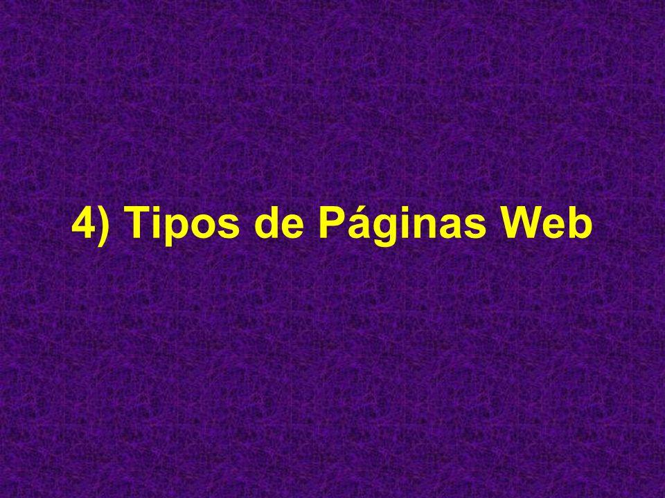 4) Tipos de Páginas Web