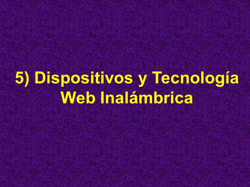 5) Dispositivos y Tecnología Web Inalámbrica