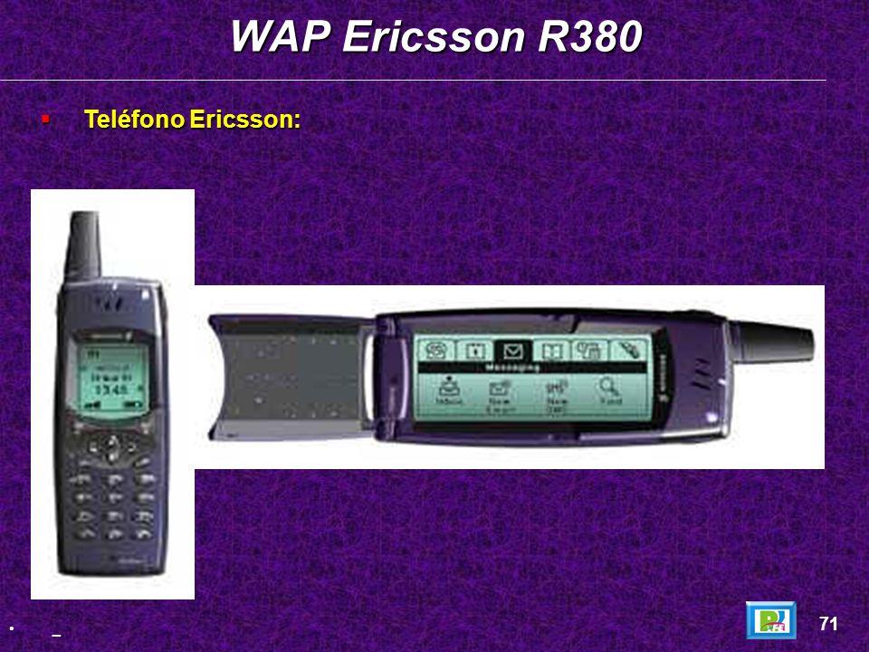 WAP Ericsson R380 Teléfono Ericsson: 71 _