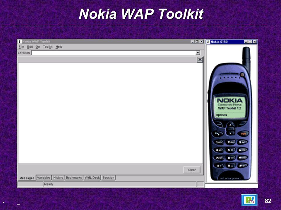 Nokia WAP Toolkit 82 _