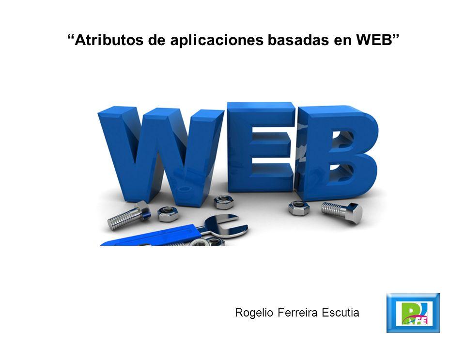 Atributos de aplicaciones basadas en WEB