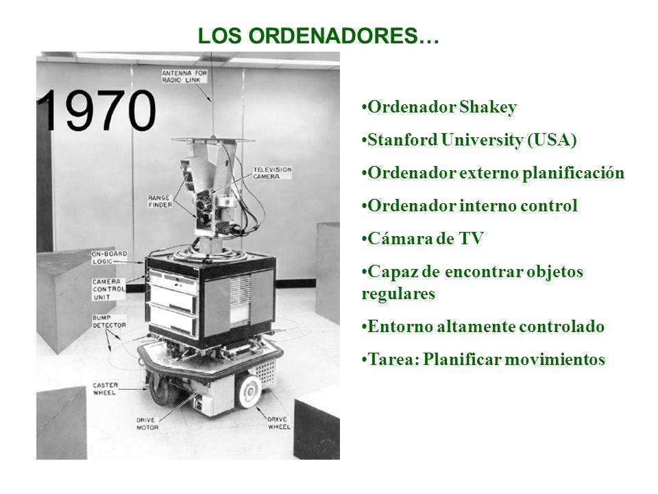 LOS ORDENADORES… Ordenador Shakey Stanford University (USA)
