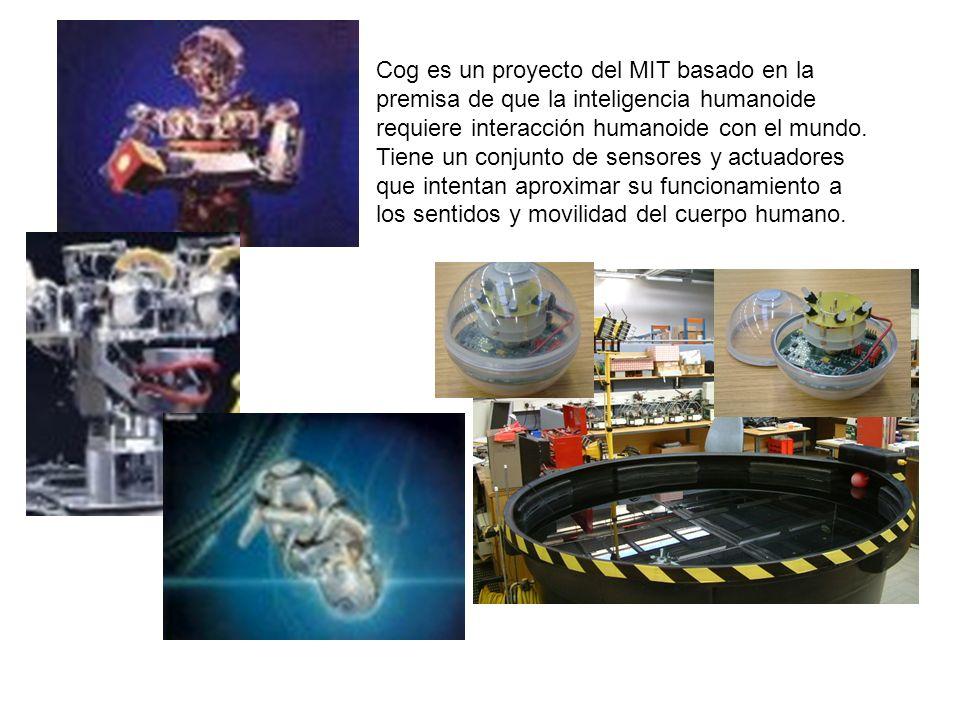 Cog es un proyecto del MIT basado en la premisa de que la inteligencia humanoide requiere interacción humanoide con el mundo.