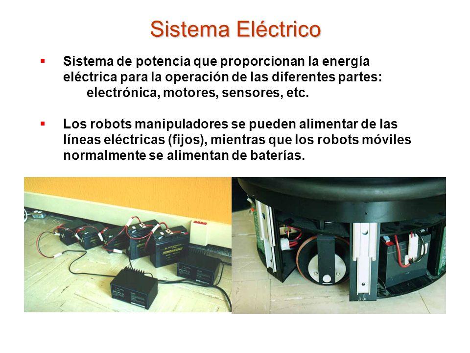 Sistema Eléctrico Sistema de potencia que proporcionan la energía eléctrica para la operación de las diferentes partes: