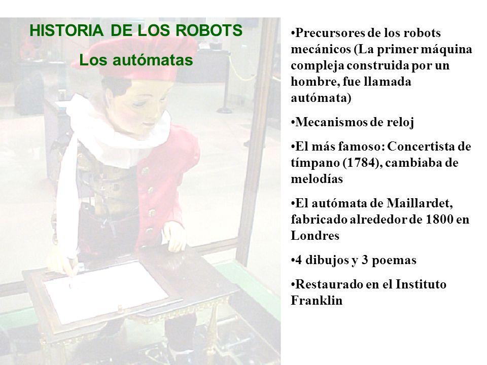 HISTORIA DE LOS ROBOTS Los autómatas