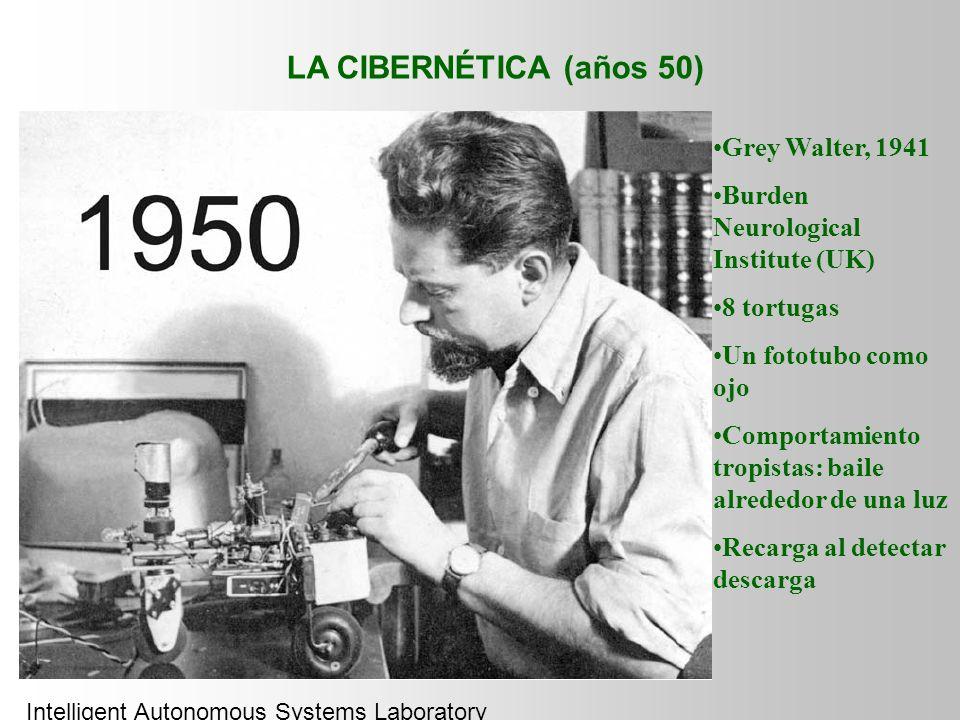 LA CIBERNÉTICA (años 50) Grey Walter, 1941