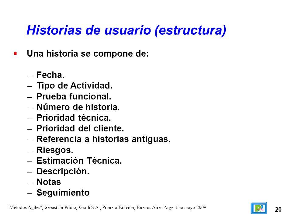 Historias de usuario (estructura)