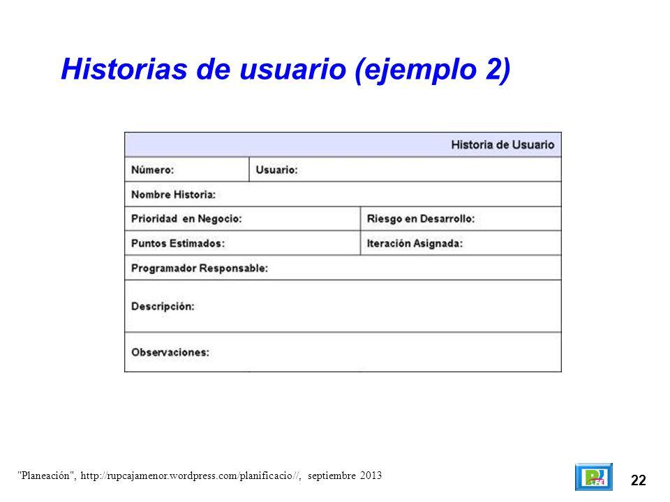 Historias de usuario (ejemplo 2)