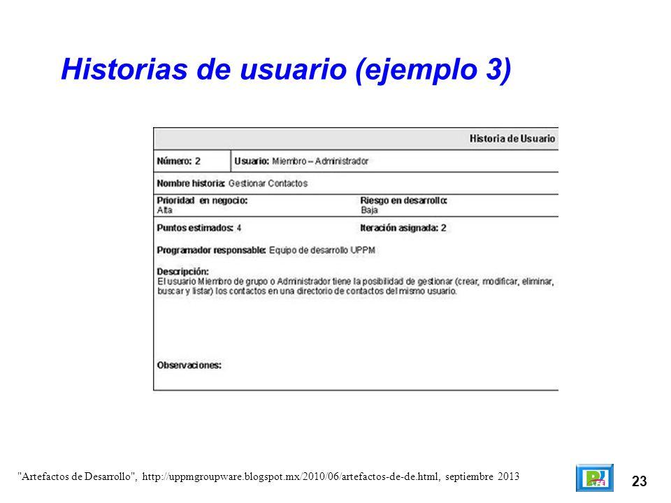 Historias de usuario (ejemplo 3)