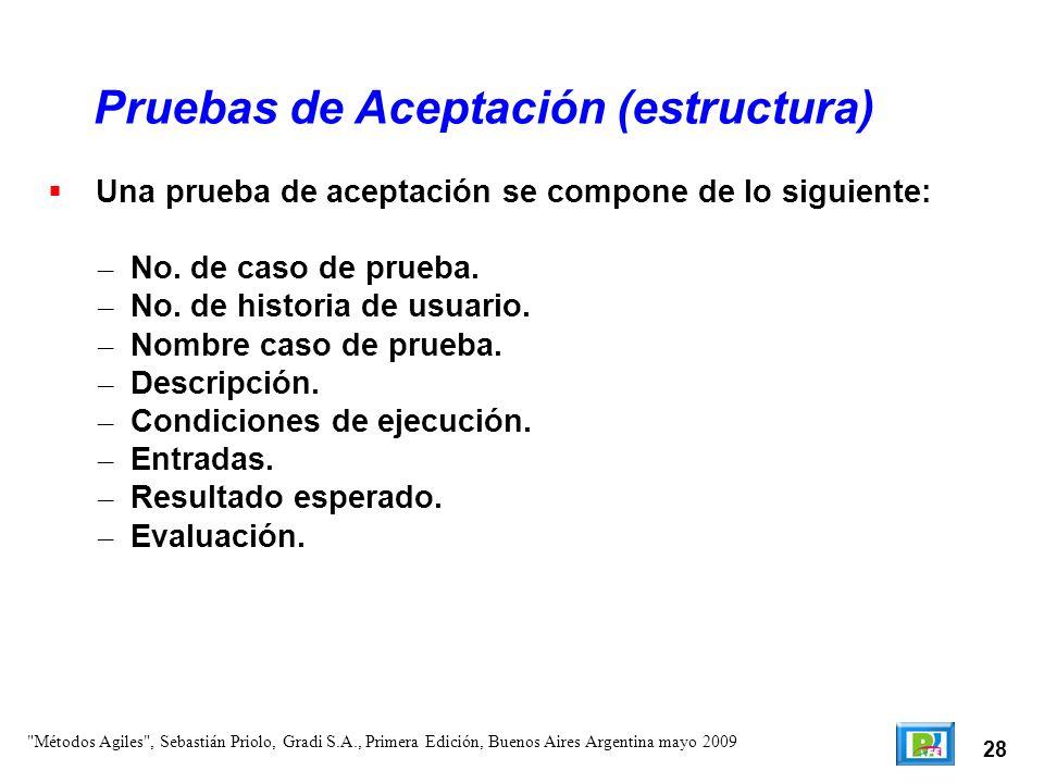 Pruebas de Aceptación (estructura)