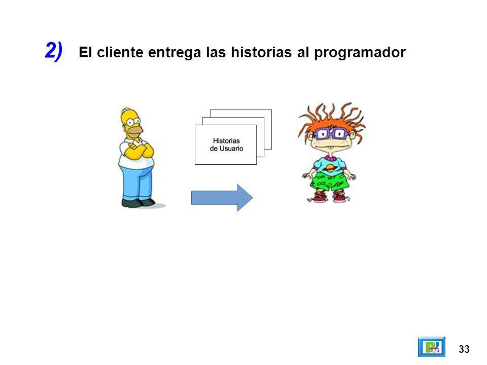 2) El cliente entrega las historias al programador 33
