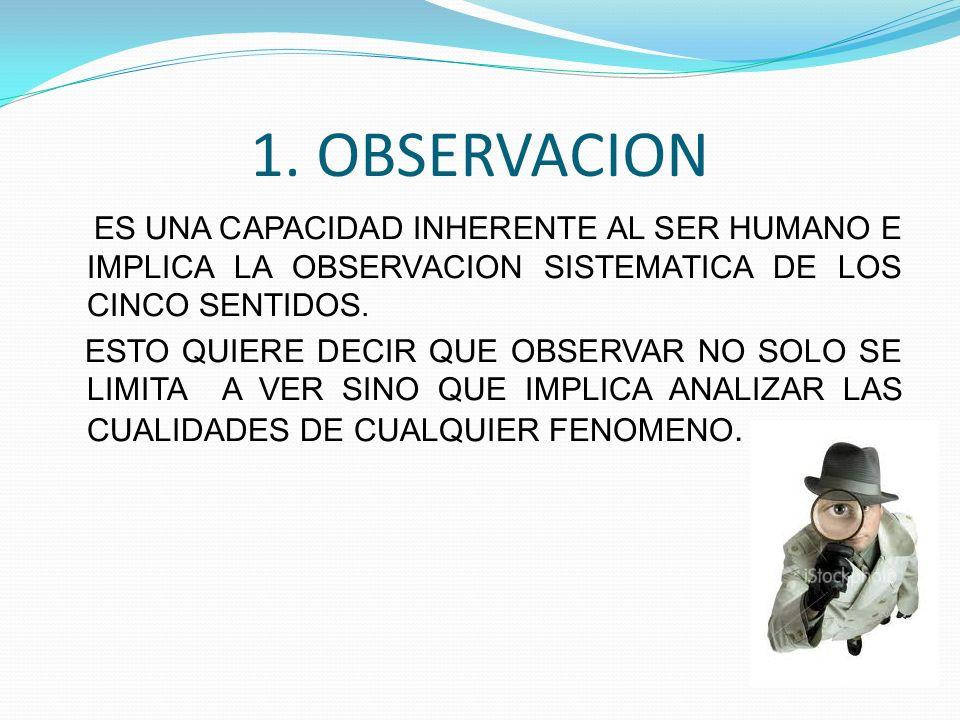 1. OBSERVACION