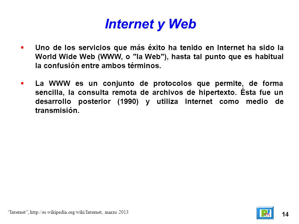 Internet y Web