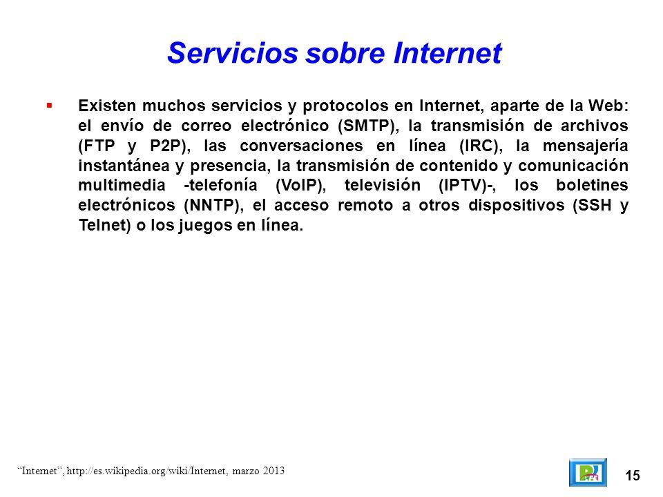 Servicios sobre Internet