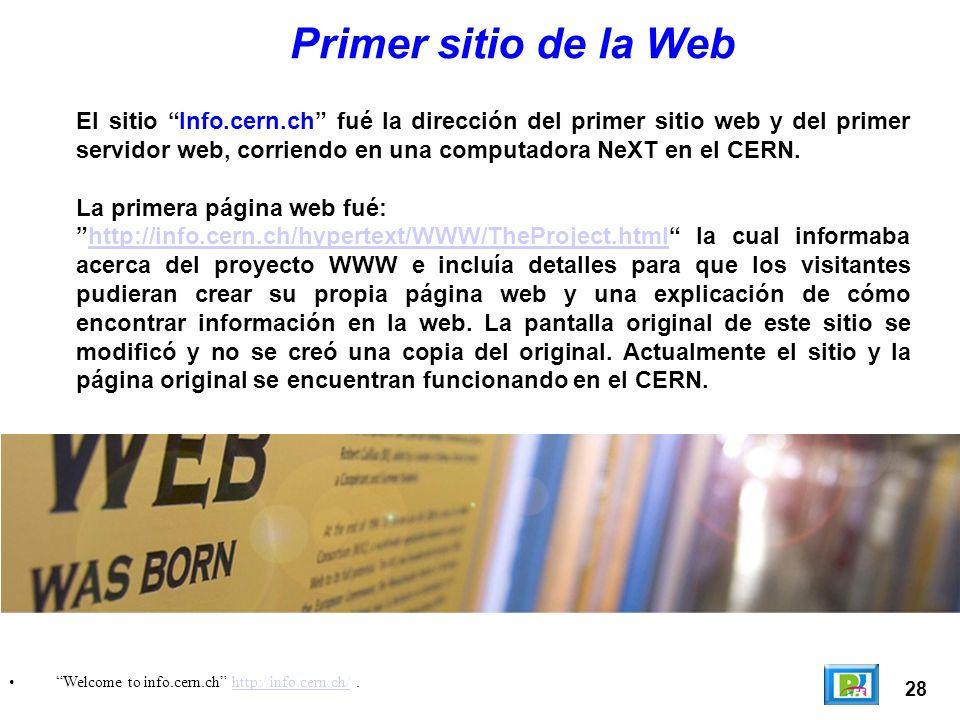 Primer sitio de la Web