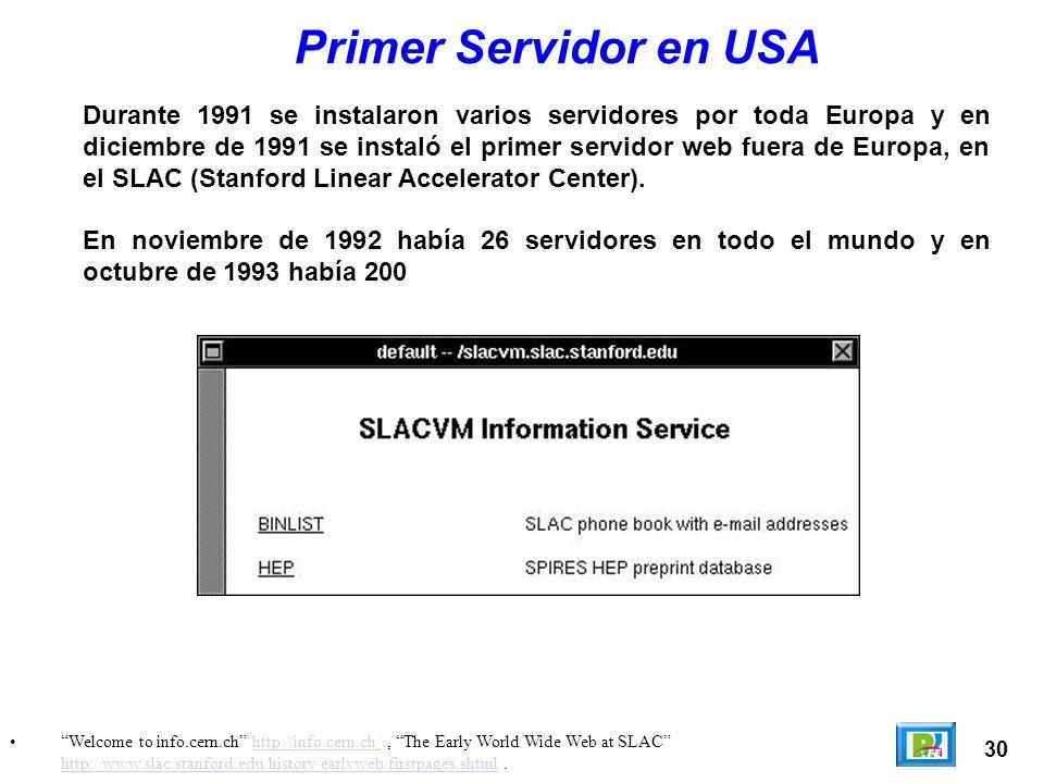Primer Servidor en USA