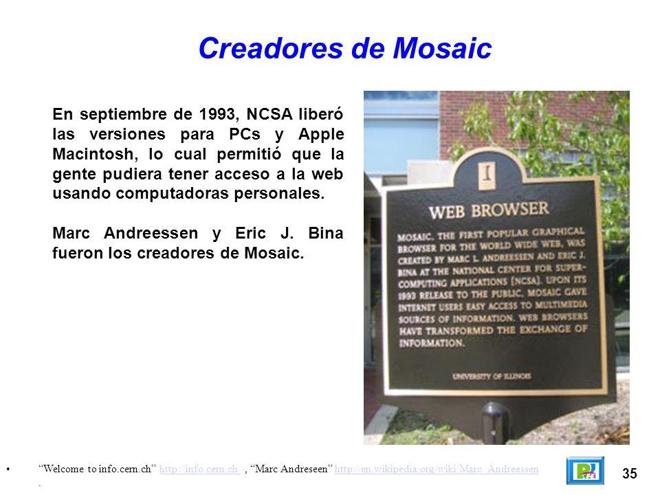Creadores de Mosaic