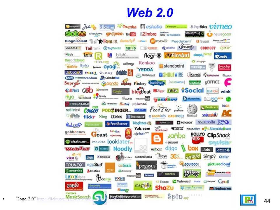 Web 2.0 logo 2.0 http://flickr.com/photos/stabilo-boss/93136022/ . 44
