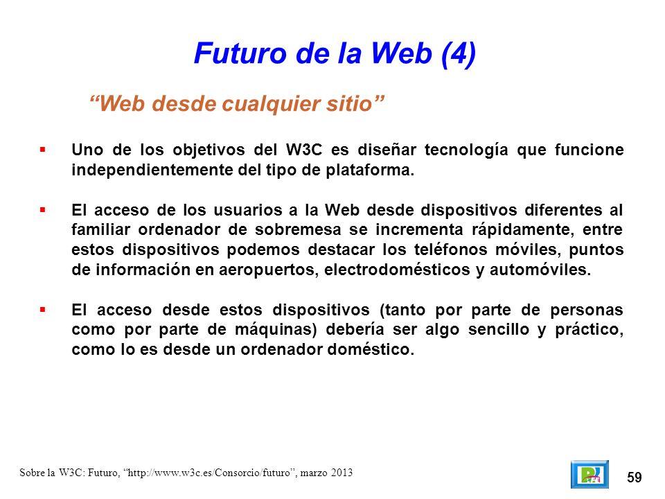 Futuro de la Web (4) Web desde cualquier sitio