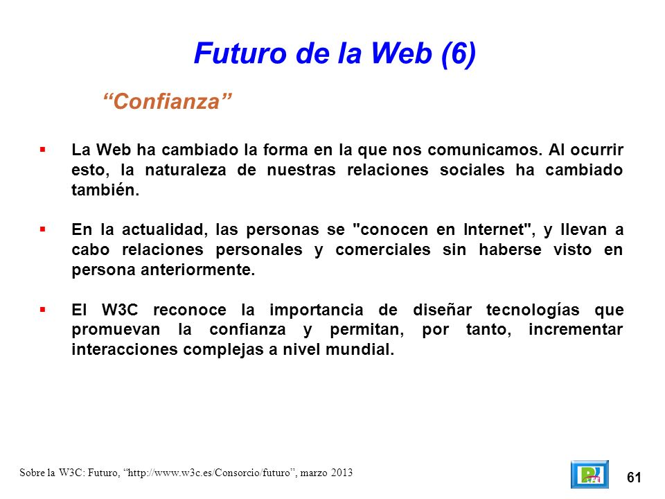 Futuro de la Web (6) Confianza