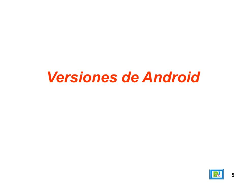 Versiones de Android 5