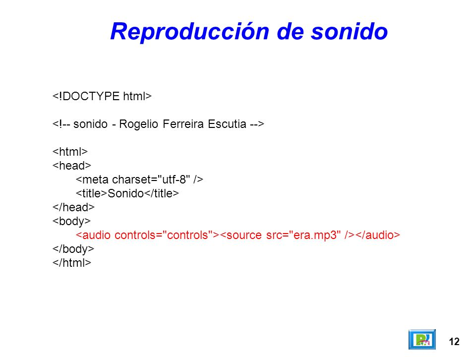 Reproducción de sonido