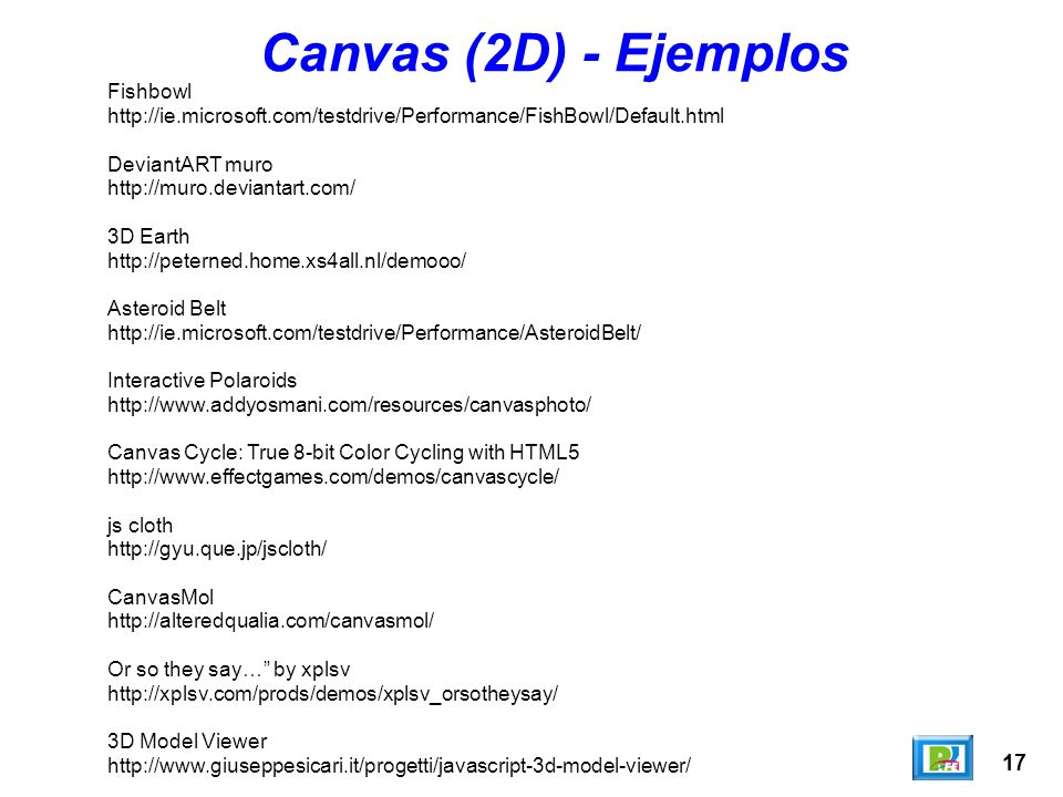 Canvas (2D) - Ejemplos 17 Fishbowl