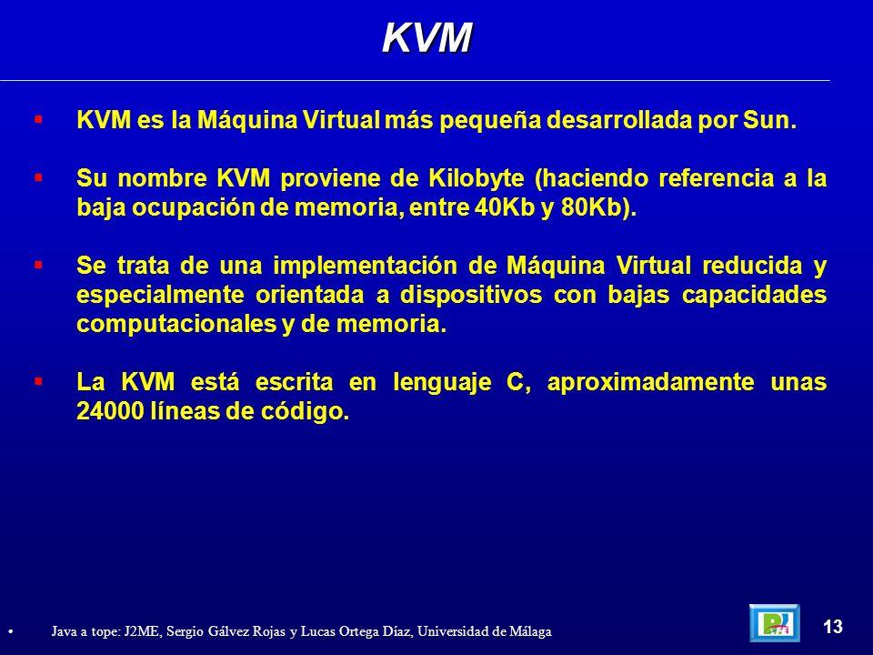 KVM KVM es la Máquina Virtual más pequeña desarrollada por Sun.