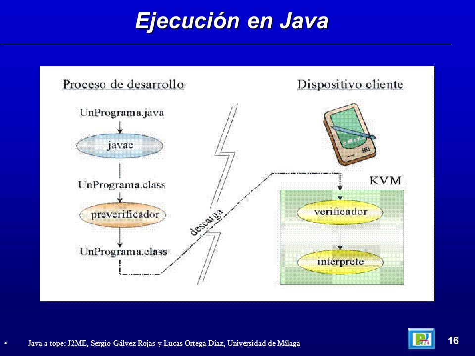 Ejecución en Java 16.