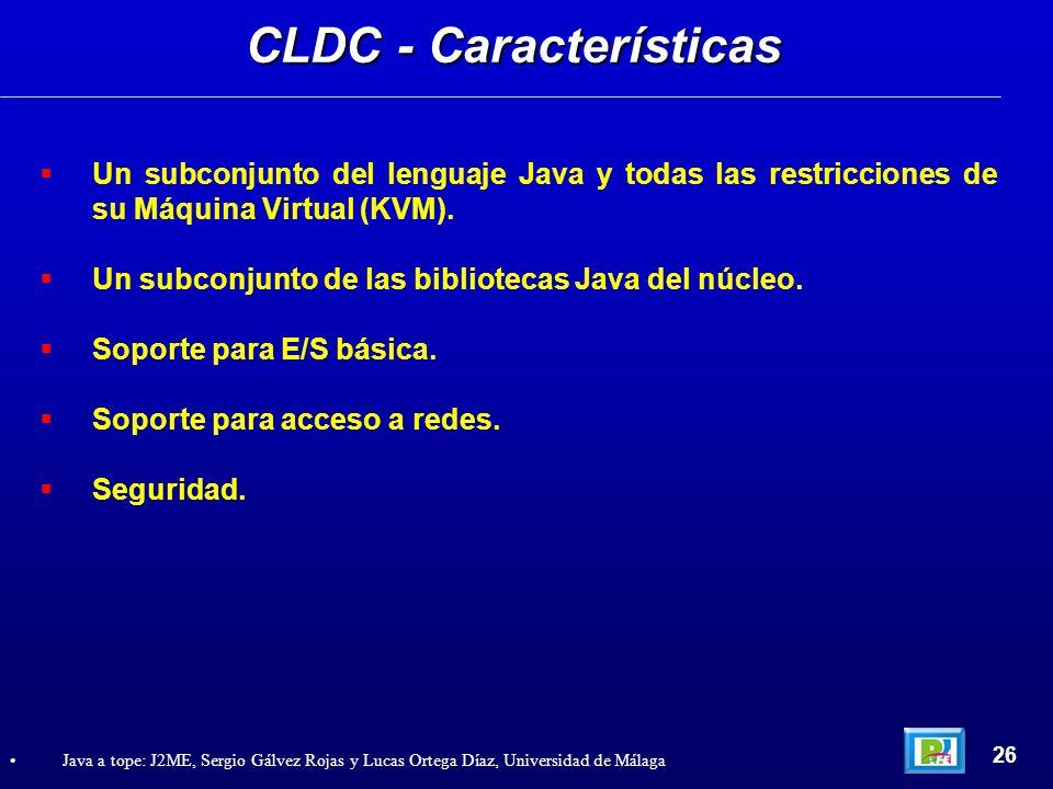 CLDC - Características
