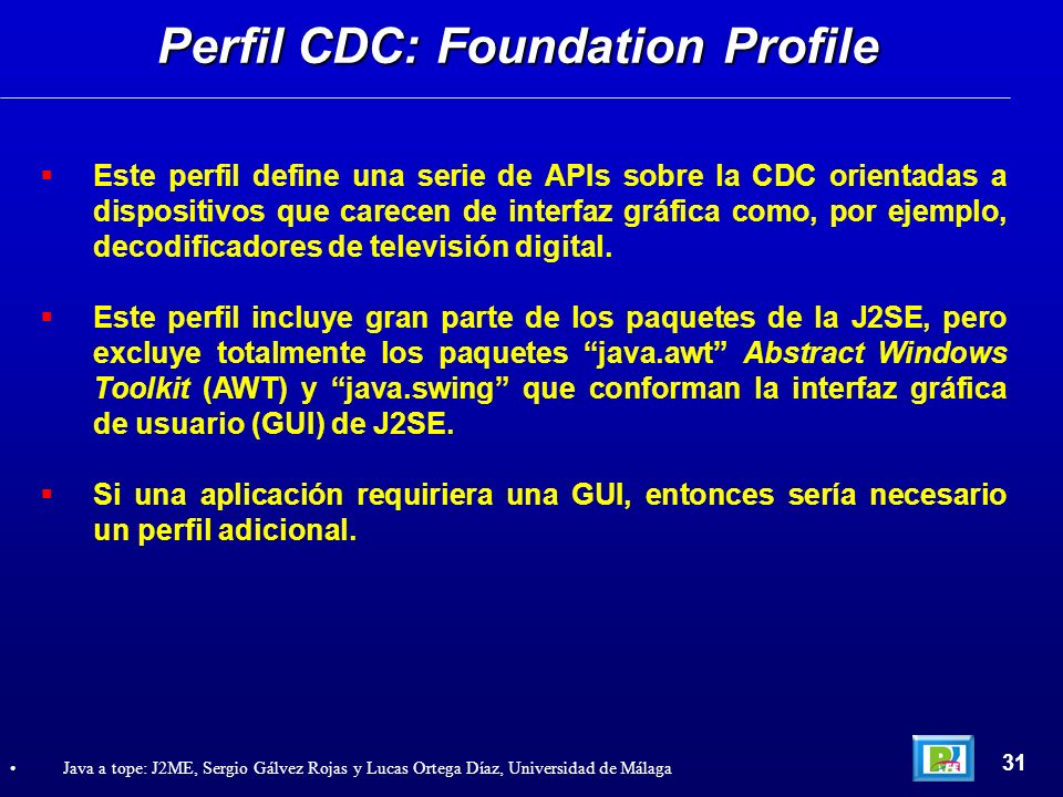 Perfil CDC: Foundation Profile