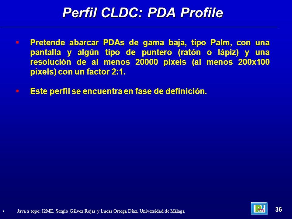 Perfil CLDC: PDA Profile