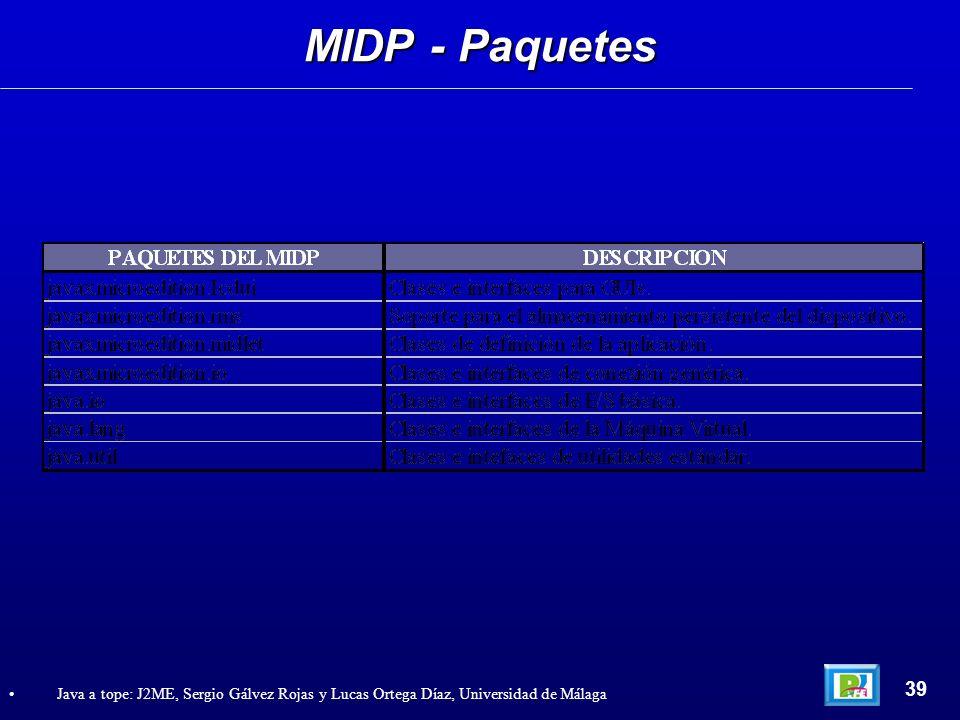 MIDP - Paquetes 39.