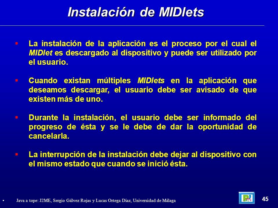 Instalación de MIDlets