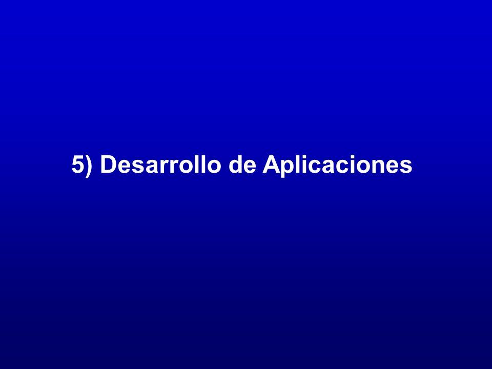 5) Desarrollo de Aplicaciones