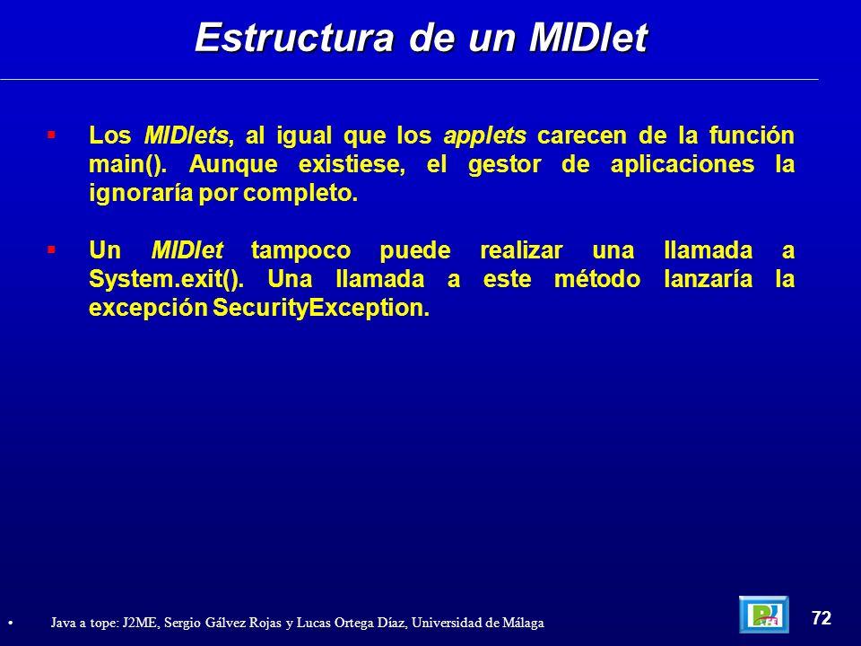 Estructura de un MIDlet