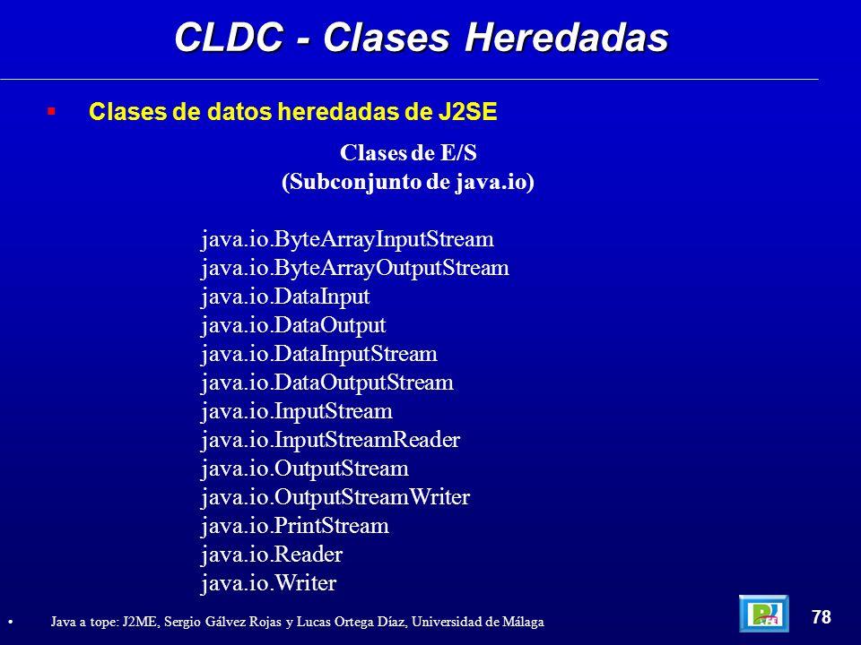 CLDC - Clases Heredadas