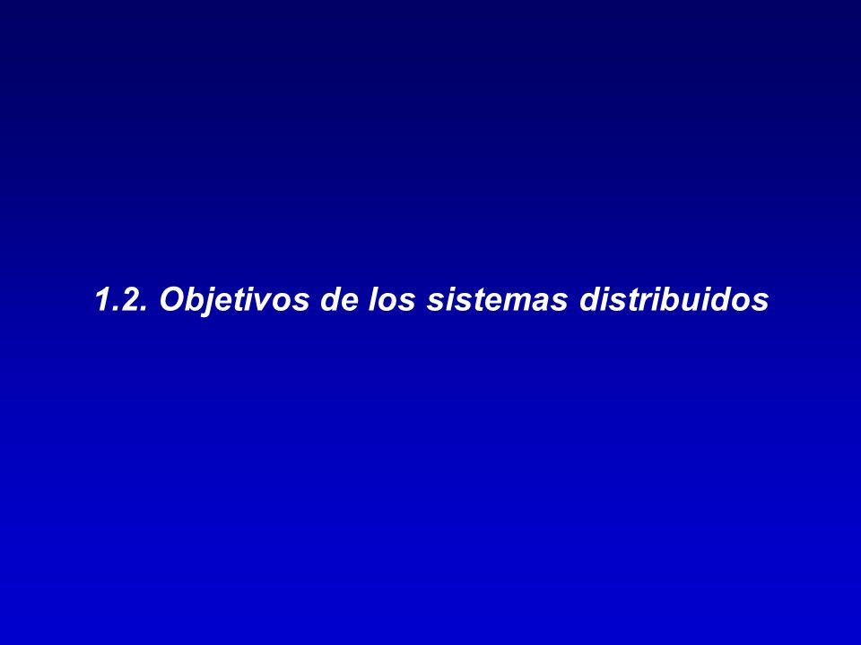 1.2. Objetivos de los sistemas distribuidos