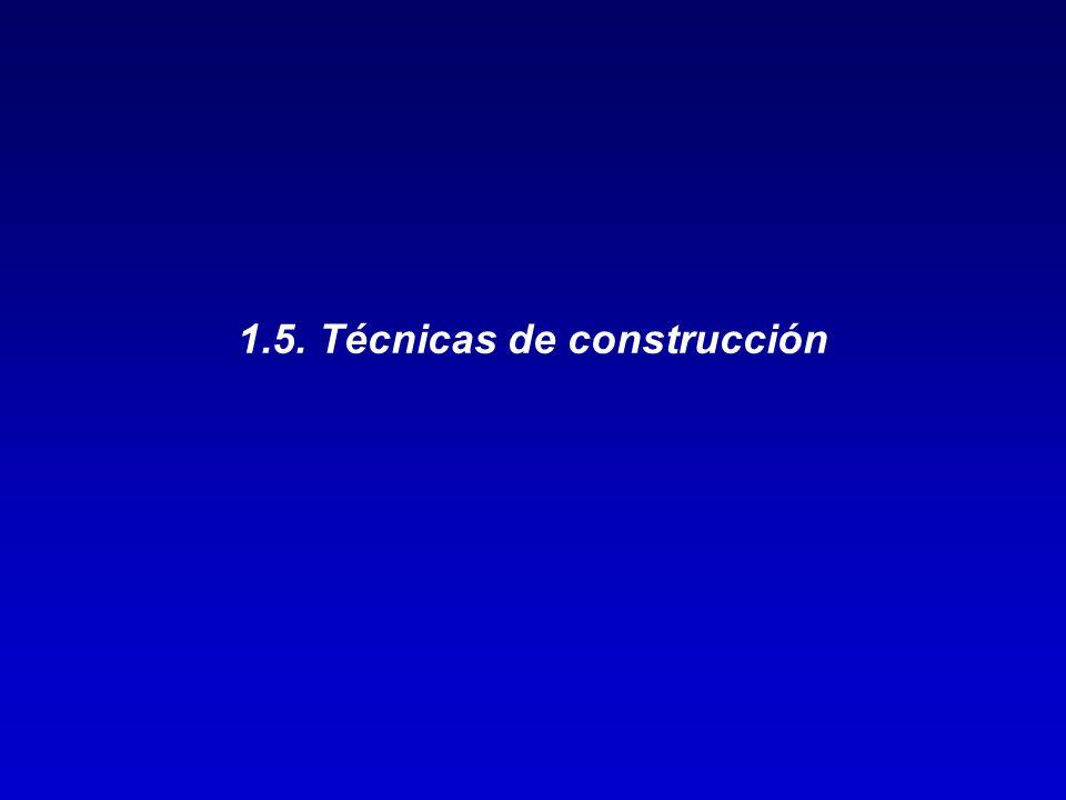1.5. Técnicas de construcción