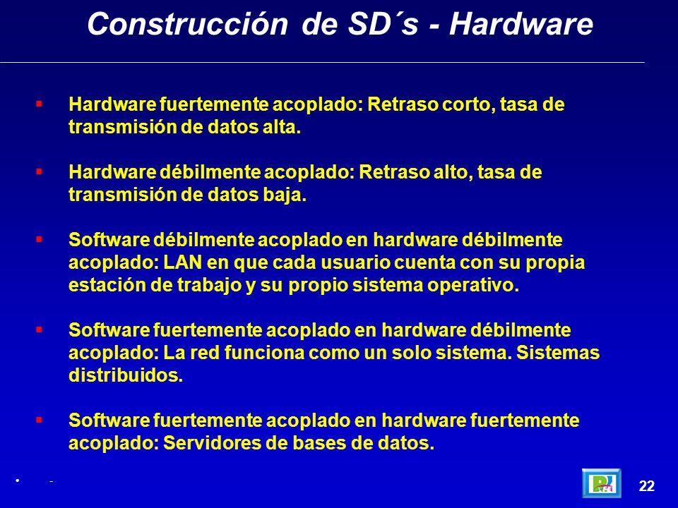 Construcción de SD´s - Hardware