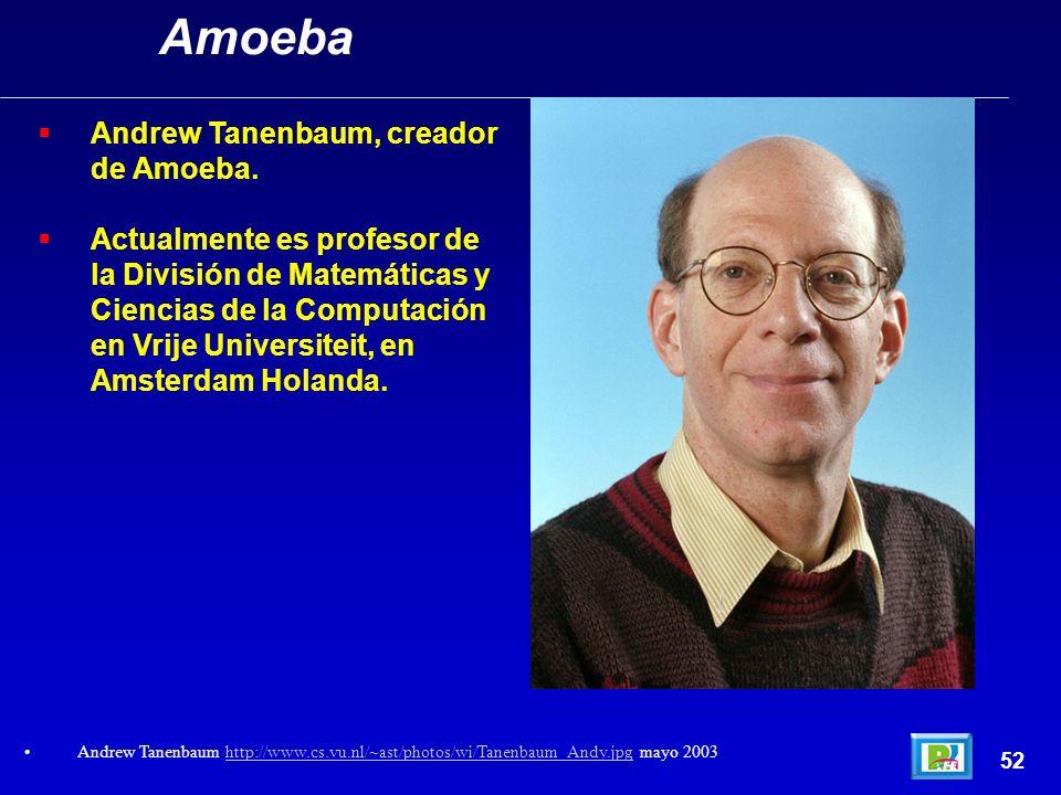 Amoeba Andrew Tanenbaum, creador de Amoeba.